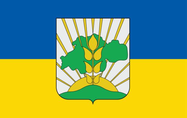Прапор Герб Солонянського району (flag-177)
