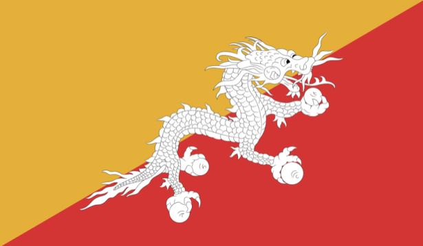Прапор Бутану (world-00177)