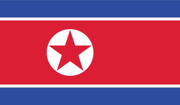 прапор Північної Кореї (world-00095)