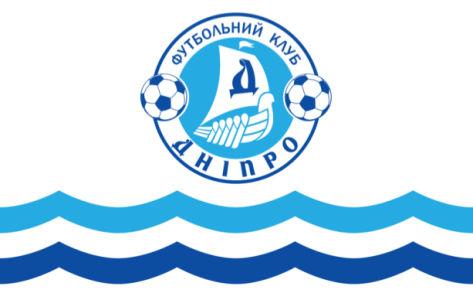 прапор фк дніпро білий (football-00010)