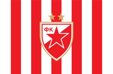 Прапор ФК Црвена Звезда (football-00078)