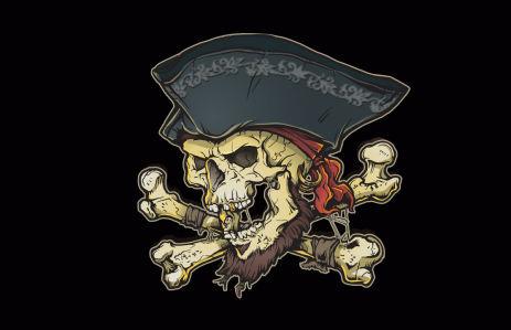 Прапор Вінтажний Веселий Роджер (jolly-roger-3)