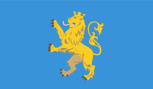 Прапор Львівської області (flag-00020)
