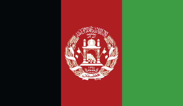 прапор Афганістану (world-00148)