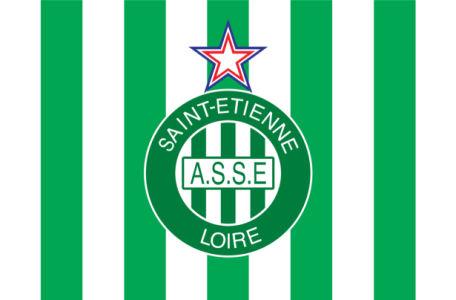 Прапор ФК Сент-Етьєн (football-00067)