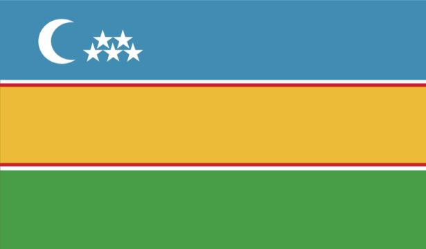 прапор Каракалпакстану (world-00087)