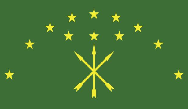 прапор Республіки Адигея (world-00147)