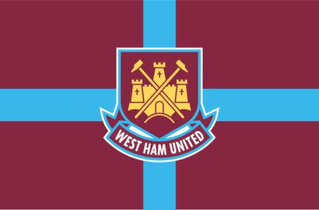 Прапор ФК Вест Гем Юнайтед (football-00037)