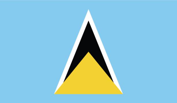 прапор Сент-Люсії (world-00034)