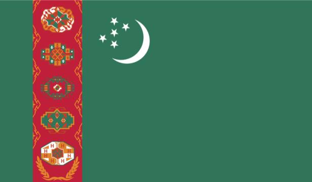 прапор Туркменістану (world-00124)