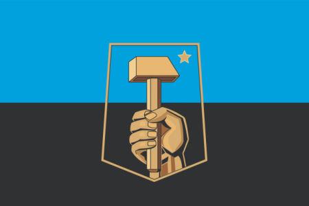 Прапор міста Донецьк (flag-00084)