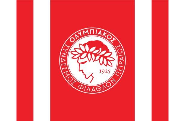 Прапор ФК Олімпіакос (football-00083)