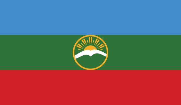 прапор Карачаєво-Черкесії (world-00086)