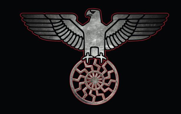 Прапор з орлом і чорним сонцем (military-00086)