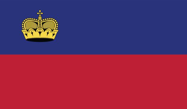 Прапор Ліхтенштейну (world-00250)