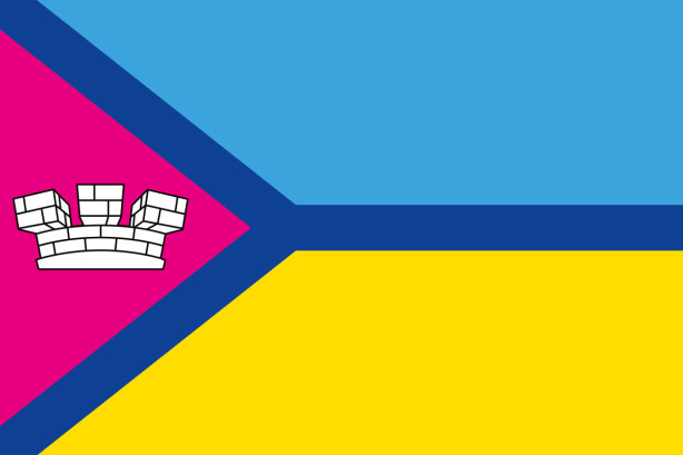 Прапор міста Первомайськ (Миколаївська область) (flag-190)