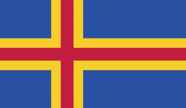 прапор Аландських островів (world-00150)