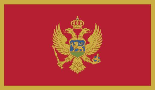 Прапор Чорногорії (world-00271)