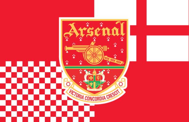 Прапор футбольного клубу Арсенал (football-00035)